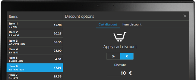 Apply discount to a single product or a sale